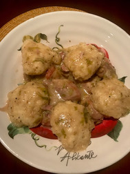 Chicken with Dumplings from The Taste of Country Cooking prepared by Adele