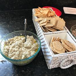 Baba ganoush prepared by Lisa