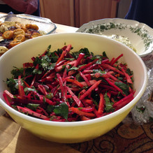 Root Vegetable Slaw with Labneh prepared by Becky