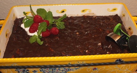 Chocolate Bread Pudding Maurice from Crescent Dragonwagon prepared by Adèle