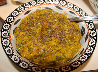 Persian Eggplant Appetizer from Vegetable Heaven prepared by Jackie