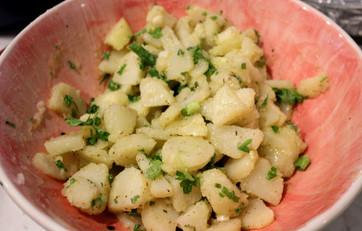 Pommes de Terre a L'huile (French Potato Salad) prepared by Sue