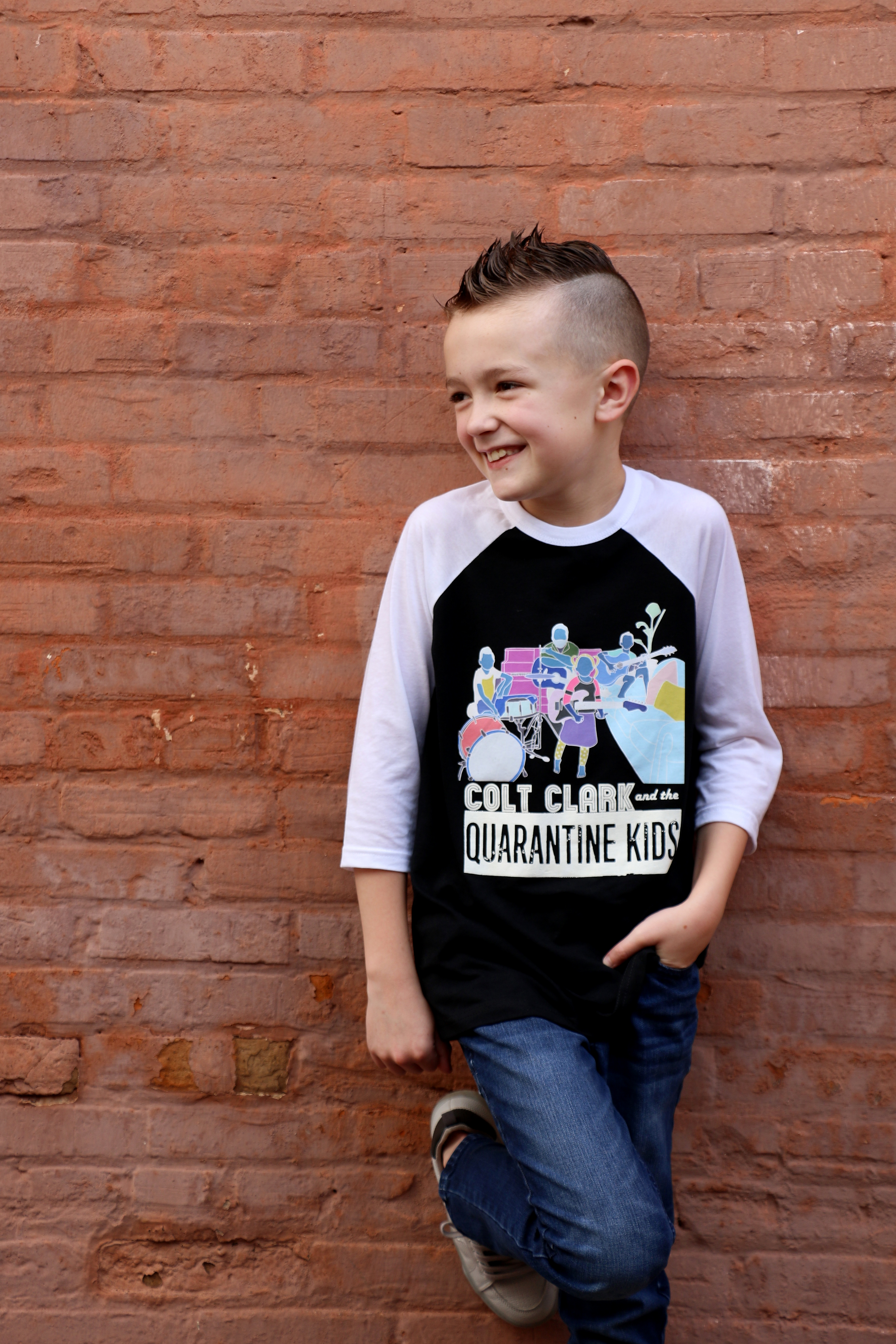 """Colt Clark & The Quarantine Kids"" Black Raglan"