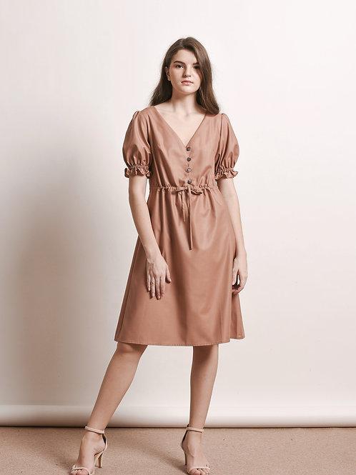 Bie button-front dress