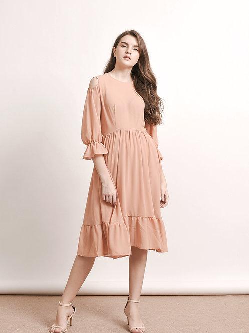 Lysander ruffled chiffon dress