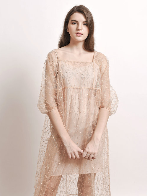 Clio pearl-embroidered dress