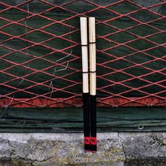 Hot Rods New Drum di colore nero e rosso