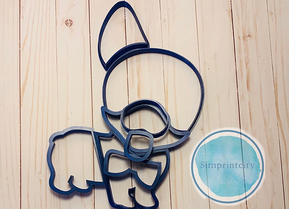 Corgi Cookie Cutter platter with a Bow