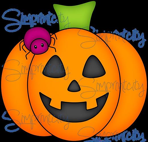 Pumpkin with Spider Cookie Cutter