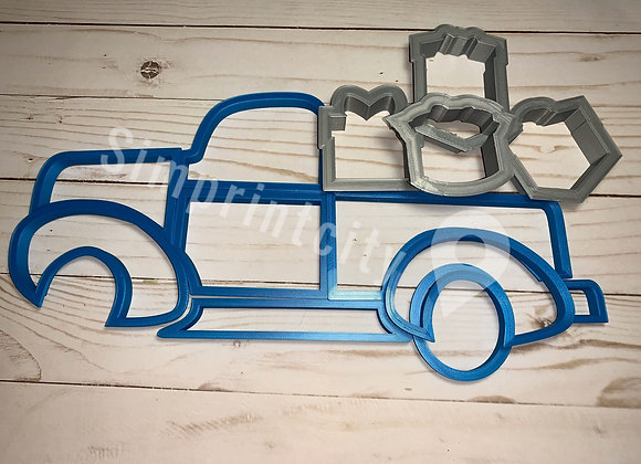 Truck with Gifts Cookie Cutter Platter