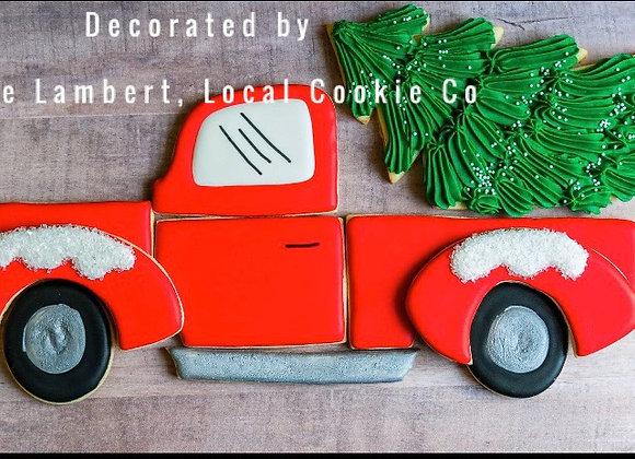 Red Truck cookie cutter platter