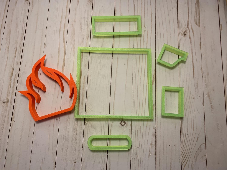 Fire Place Cookie Cutter Set