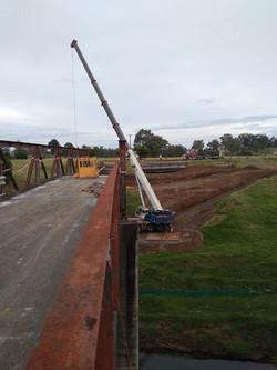 Lifting part of bridge