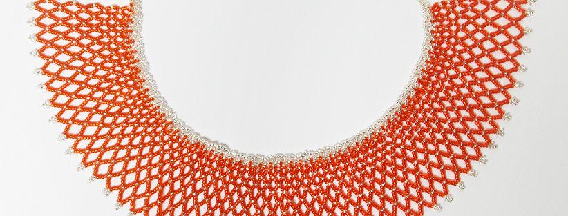 Grid Orange / Argent