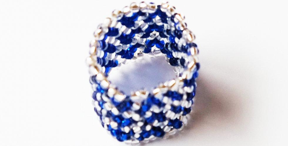 Bague Bleu / Argent