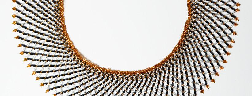 Grid Or cuivré / Argent /Noir