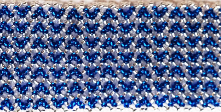 Zig Zag Bleu / Argent