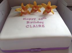 Sugar orchid Birthday cake
