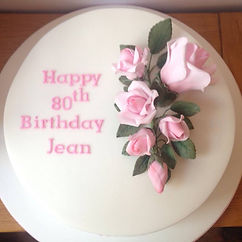 sugar rose birthday cake