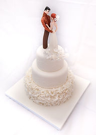 wedding cake bride and groom cake topper