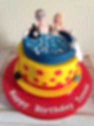 hot tub cake
