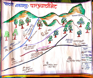 Mapping of water resources during village mapping