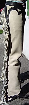 chaps avec garniture sophistiquée