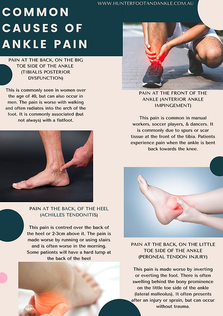 Causes of Ankle Pain