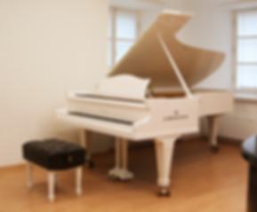 Белый концертный рояль C. Bechstein (Германия), аналог Steinway D-274 (фото)