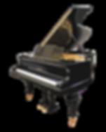 Черный кабинетный рояль Блютнер немецкий старинный (фоо)