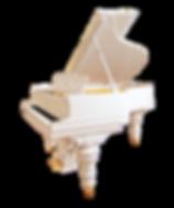 Steinway sons, белый резной рояль классического дизайна (фото)