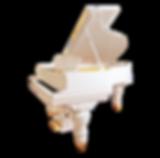 Steinway & Sons Classic: белый кабинетный рояль Стейнвей классического дизайна (фото)