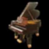 Кабинетный рояль C. Bechstein в коричневой отделке амбойна (фото)