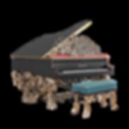 Самый красивый рояль Павлин с металлическими скульптурными украшениями (фото)