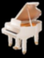 Мини рояль Каваи (Япония) белый полированный (фото справа)