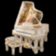 Белый рояль Людовик XVI с живописью (фото)
