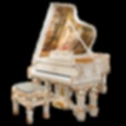 Самые красивые рояли дизайна Galimberti Италия роскошный Людовик Шестнадцатый с живописью и золотом (фото)