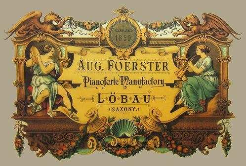 История фабрики роялей August Förster Германия (фото)