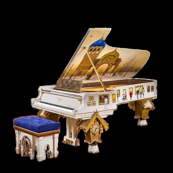 Самый красивый рояль в американском матрёшечном стиле Брайтон Бич (Картинки с выставки), фото