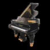 Антикварный черный кабинетный рояль Дидерихс (фото)