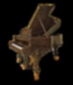 Коричневый старинный реставрированный рояль Стейнвей Луи XV корень ореха (фото)