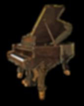 Steinway & Sons Louis XV рояль Стейнвей Людовик XV дизайна рококо коричневый корень ореха (фото)