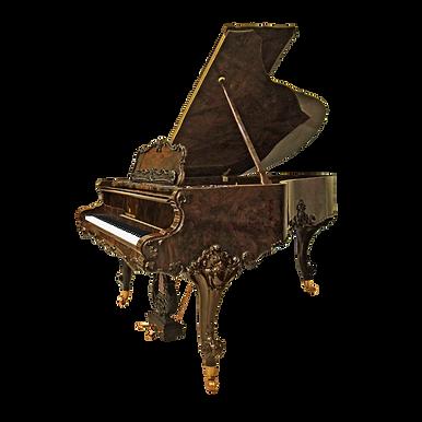 Ореховый рояль дизайна рококо Людовик XV (фото)