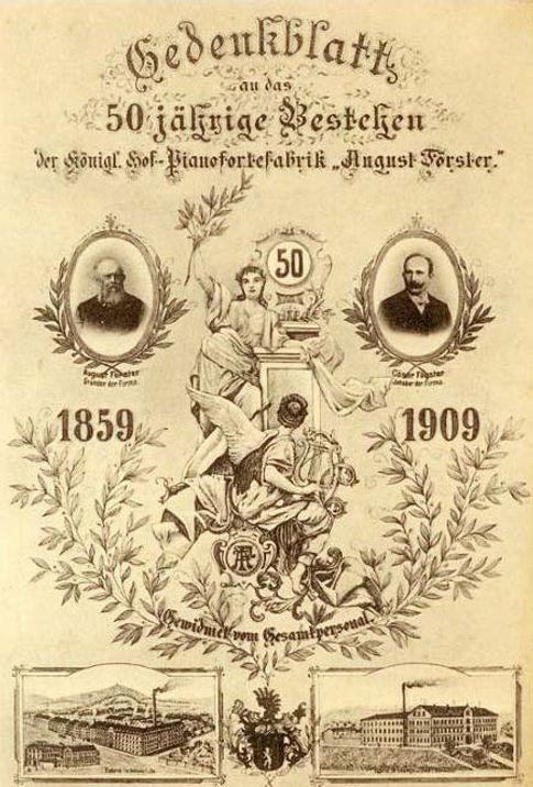Юбилей фабрики Фёрстер в 1909 году (фото)