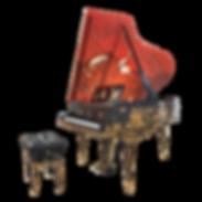 Самые красивые рояли Galimberti Италия Роскошный Небожитель с живописью и золотыми инкрустациями (фото)
