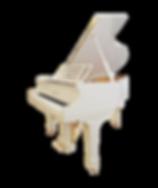 Белый мини рояль Блютнер Blüthner немецкий (фото)