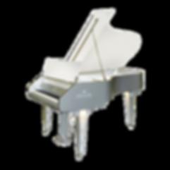 Seiler Opaque — Непрозрачный прозрачный туманный рояль Зайлер в отделке металлик-акрил (Германия), фото