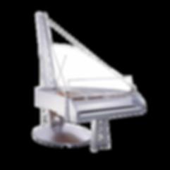 Seiler Suspension — дизайнерский хай-тек рояль серебристый металлик Зайлер «Подвесной мост», Германия (фото)