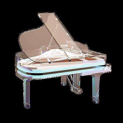 Прозрачный рояль Блютнер германского изготовления класса премиум (фото)