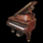 Старинный рояль C. M. Schröder в стиле модерн с отделкой породами дерева (фото)